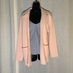 MAGASCHONI KNIT BLAZER SWEATER IN PINK NWT